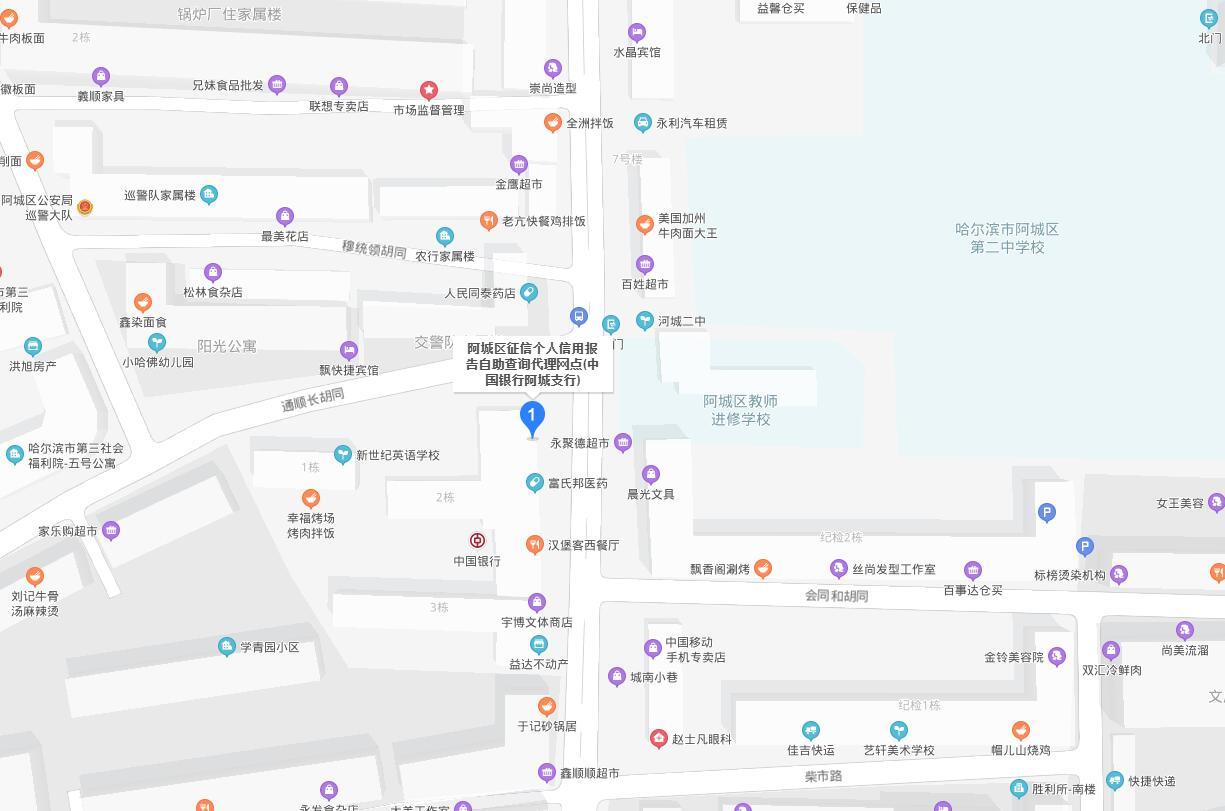 哈尔滨市阿城区个人信用报告查询网点/打印征信报告网点在哪里?